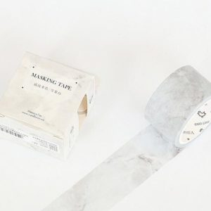 Wide Washi Tape NZ White Marble JJ-W-156