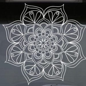 Yoga mandala lotus flower decal vinyl wall sticker car window poster journal decoration bullet nz