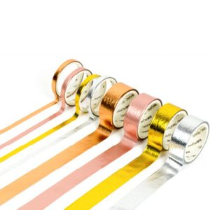 Metallic Washi Tape NZ Foil Pack out