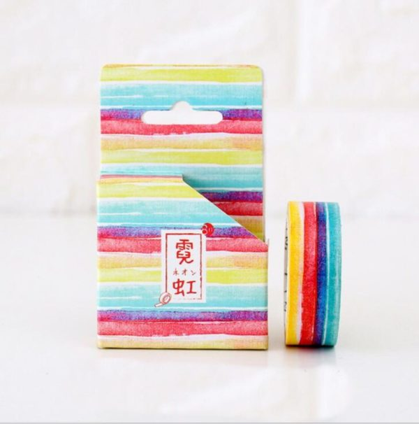 Bright Stripes Medium washi Tape NZ Bullet Journal (1 of 1)