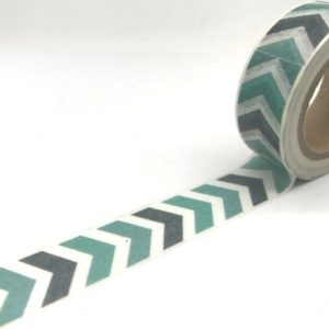 Medium Washi Tape New Zealand Green Chevron
