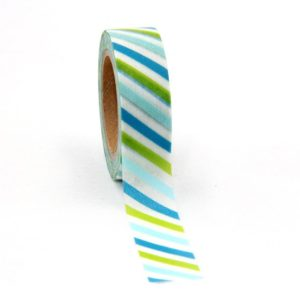 Medium Washi tape Bullet Journal New Zealand Blue and green stripe