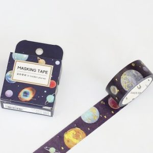 Medium Washi tape Bullet Journal New Zealand foiled in space