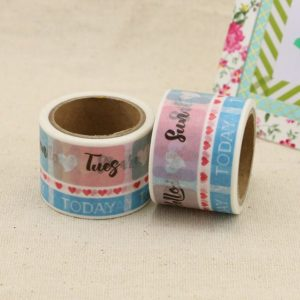 Medium Washi tape Bullet Journal New Zealand love dailies