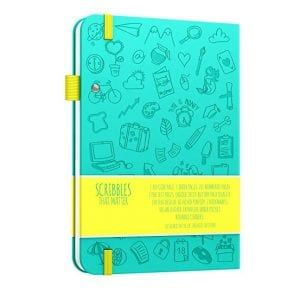 Scribbles That Matter Dotted Notebook Bullet Journal NZ Teal Iconic backside