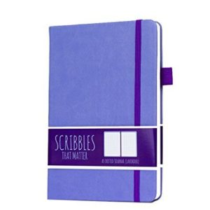 Scribbles That Matter Dotted Notebook NZ Pro Lavender