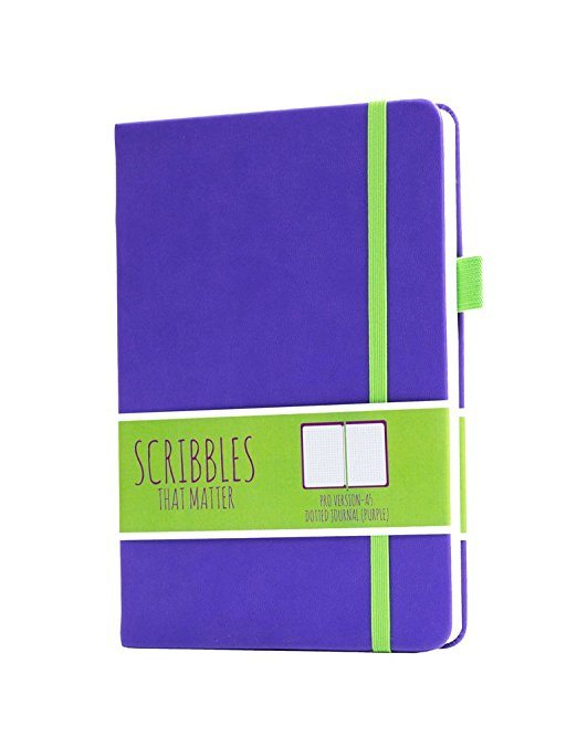 Scribbles That Matter Dotted Notebook NZ Pro Purple