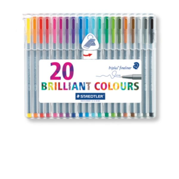 Steadtler Staedler steadler steatler staetler Steatdler Triplus® Fineliner 334 New Zealand Official 20 pack