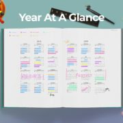 Scribbles That Matter Planner NZ Aus bullet journal yearly spread year at a glance future log