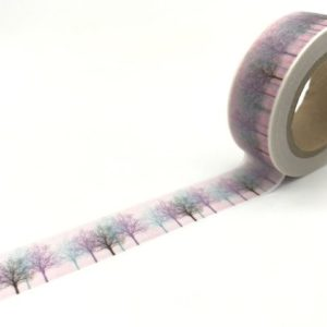 JJ-W-191 washi tape nz medium purple misty trees