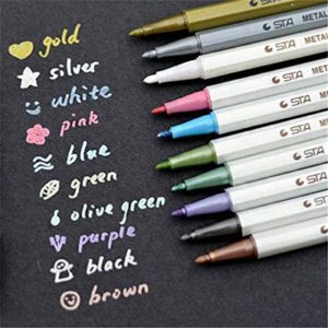STA metallic markers pack of 10