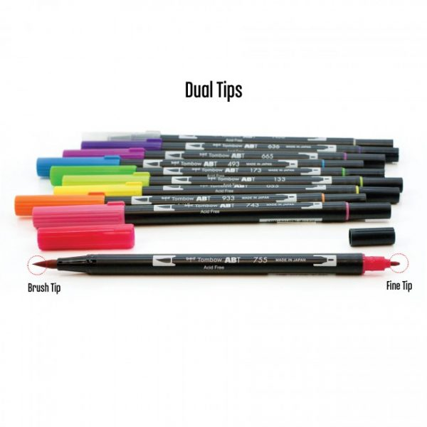 Tombow dual brush pens brights dual tip 10 pack