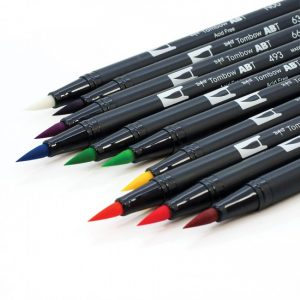 Tombow dual brush pens brights dual tip 10 pack brush tip