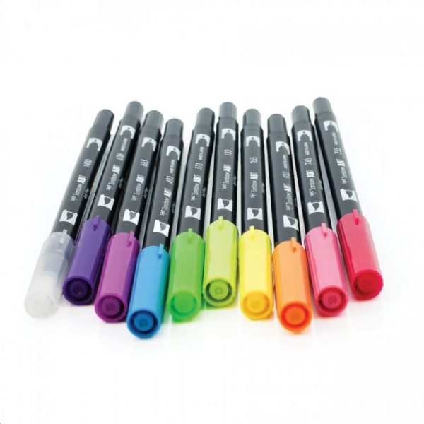 Tombow dual brush pens brights dual tip 10 pack feature