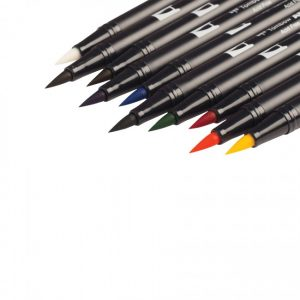 Tombow dual brush pens primary dual tip 10 pack brush tips