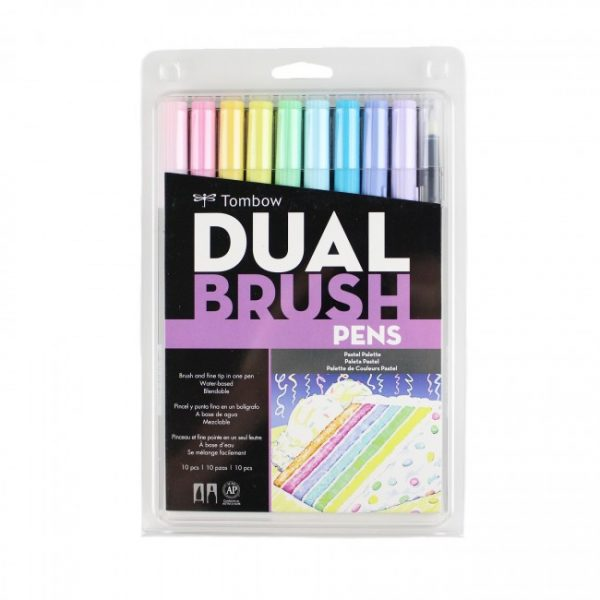 tombow dual brush pens pastel 10 pack new zealand bullet journal