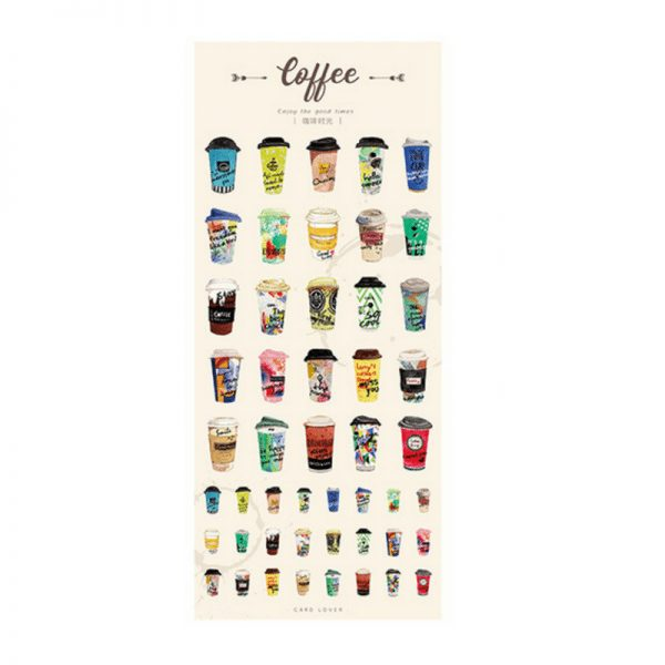 Planner stickers bullet journal decorative craving coffee