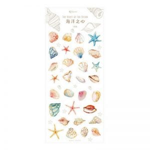 Planner stickers bullet journal decorative she sells sea shells cover