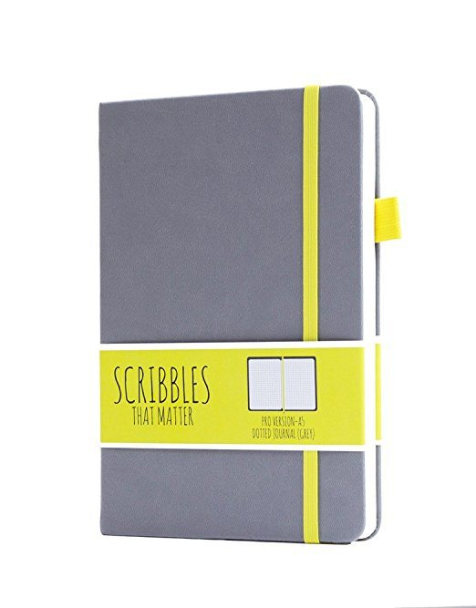 scribbles that matter A5 dotted notebook bullet journal new zealand pro grey