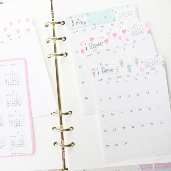 Bullet Journal Calendar Stickers Cover sweet
