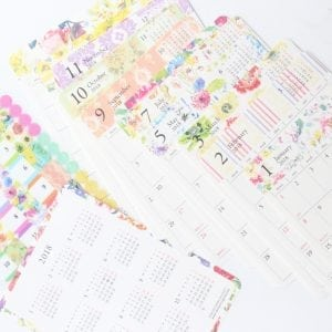 Bullet Journal Calendar Stickers flowers