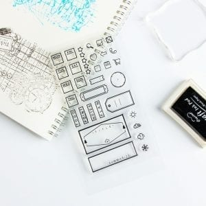 Clear productivity planner stamps JJ-ST-108
