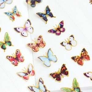 Decorative planner stickers flutterbys cover