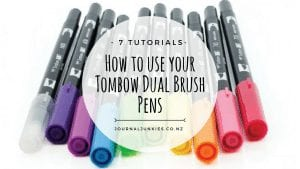 how to use your Tombow dual Brush Pens 10 pack set pastel galaxy brights bullet journal new zealand 7 techniques and tricks tutorials