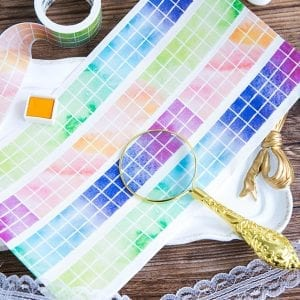 Medium washi Tape bullet journal paper crafts new zealand gradient squares