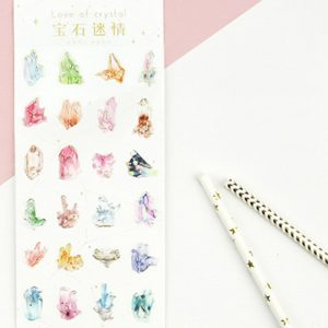 Planner Stickers bullet journal decorative golden crystals 2
