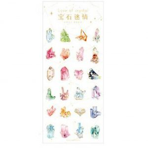 Planner Stickers bullet journal decorative golden crystals