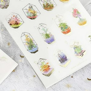 Planner Stickers bullet journal decorative mini greenhouses