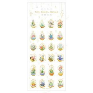 Planner Stickers bullet journal decorative mini greenhouses cover