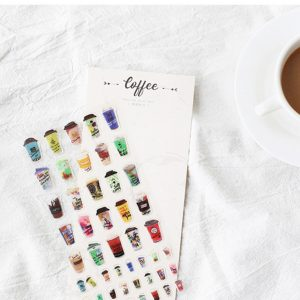 Planner stickers bullet journal decorative craving coffee2
