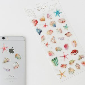 Planner stickers bullet journal decorative she sells sea shells3