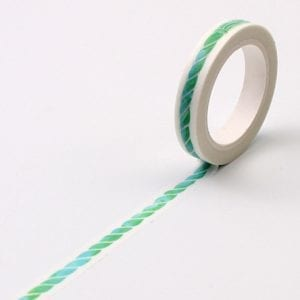 Thin Washi Tape bullet journal new zealand aqua rope