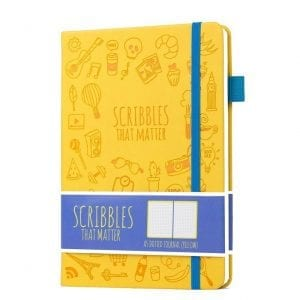 Scribbles That Matter Dotted Notebook NZ Bullet Journal Iconic Yellow