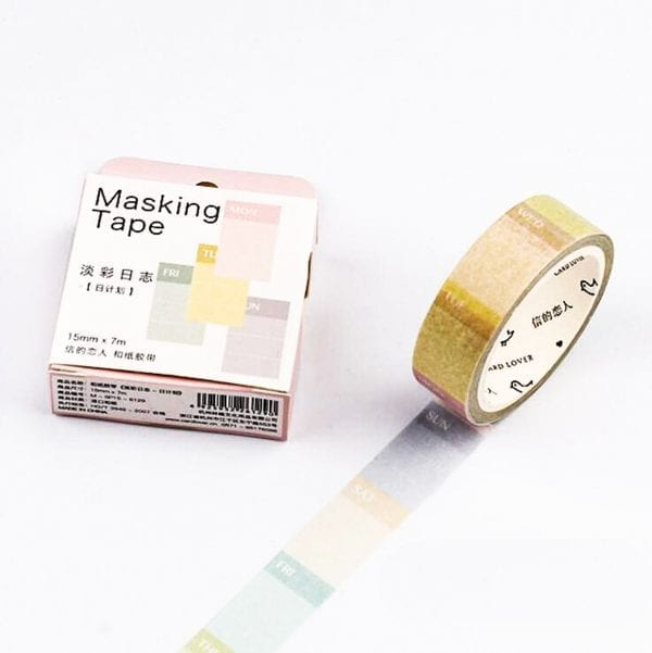 medium washi tape bullet journal new zealand planner pastel days