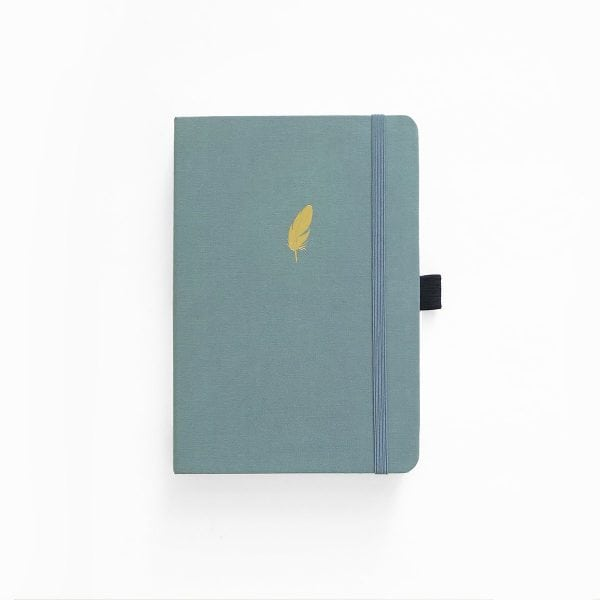 buy Archer and olive dotted notebook new zealand floating feather cover