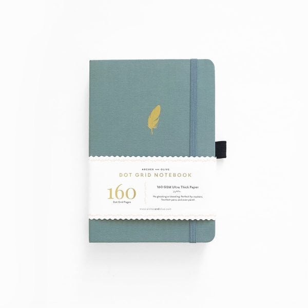 Archer and olive dotted notebook new zealand floating feather cover