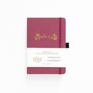 Buy Archer and olive dotted notebook new zealand pink plans cover