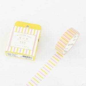 Buy Medium Washi Tape Bullet Journal NEw Zealand candy stripes