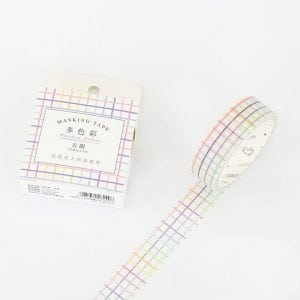 Buy Medium Washi Tape Bullet Journal NEw Zealand rainbow grid