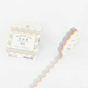 Buy Medium Washi Tape Bullet Journal NEw Zealand rainbow zig zags