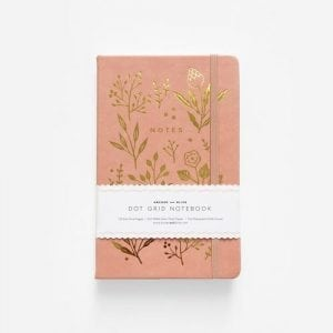 Golden Flowers Archer & Olive dotted notebook journal new zealand australia