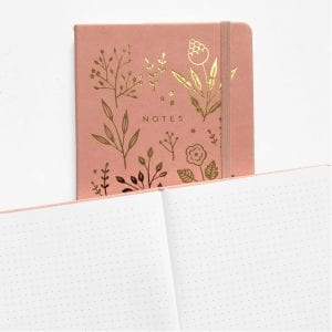 Golden Flowers Archer & Olive dotted notebook journal new zealand australia paper