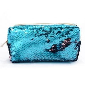 Sequins sparkle pencil cases cute stationery new zealand Blue & Rose