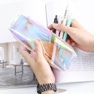 transparent iridescent pencil case bullet journal supplies new zealand