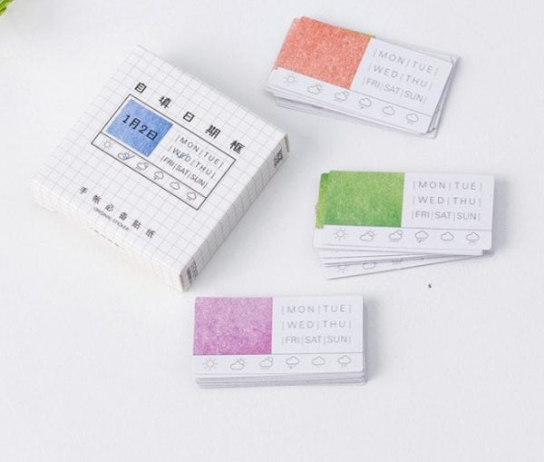 Daily Tabs washi planner stickers for Bullet Journal Spreads cover