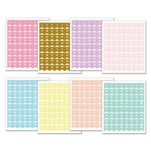 Planner Stickers Pastel Date Flags